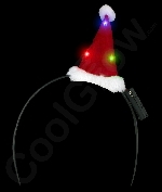 LED Mini Santa Hat Headband