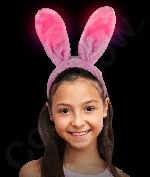 LED Soft Plush Bunny Ears - Multicolor