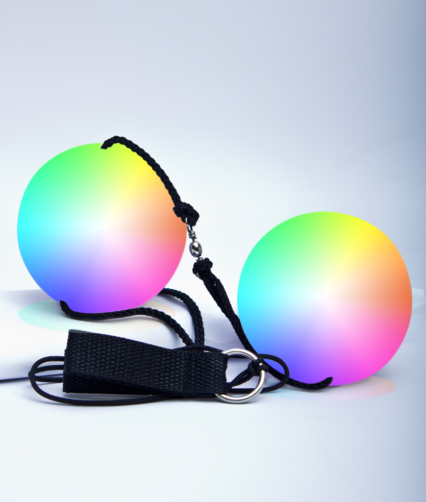 LED Double Poi Ball - Multicolor