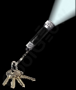 Aluminum 3 LED Flashlight Key Chain- Black