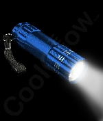 Aluminum 9 LED Flashlight Key Chain-Blue
