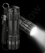 Fun Central AJ333 Aluminum 9 LED Light Up Flashlight Key Chain- Black