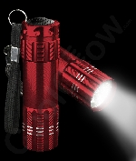 Fun Central AJ335 Aluminum 9 LED Light Up Flashlight Key Chain-Red
