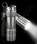 Aluminum 9 LED Flashlight Key Chain- Silver
