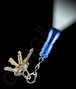 LED Big Head Flashlight Key Chain- Blue