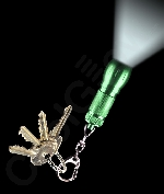 LED Big Head Flashlight Key Chain- Green