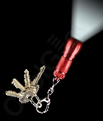 LED Big Head Flashlight Key Chain- Red