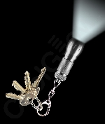 LED Big Head Flashlight Key Chain- Silver