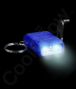 LED Cranking Flashlight Key Chain- Blue