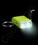 LED Cranking Flashlight Key Chain- Green