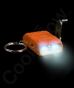 LED Cranking Flashlight Key Chain- Orange