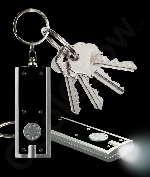 Fun Central AJ346 LED Light Up Flat Flashlight Key Chain- Black