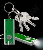 LED Flat Flashlight Key Chain- Green