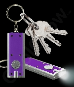 LED Flat Flashlight Key Chain- Purple