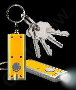 Fun Central AJ351 LED Light Up Flat Flashlight Key Chain- Yellow