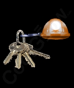 LED Hard Hat Key Chain- Orange