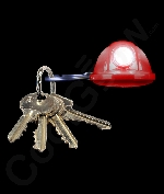 LED Hard Hat Key Chain- Red