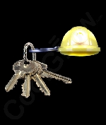 LED Hard Hat Key Chain- Yellow
