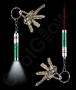 LED Laser Key Chain- Green