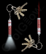 LED Laser Key Chain- Red