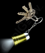 LED Mini Aluminum Flashlight Key Chain- Yellow