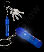 LED Whistle Key Chain- Blue