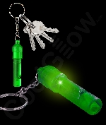 LED Whistle Key Chain- Green