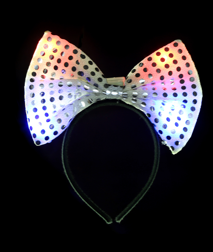 LED Jumbo Sequin Bow Headband