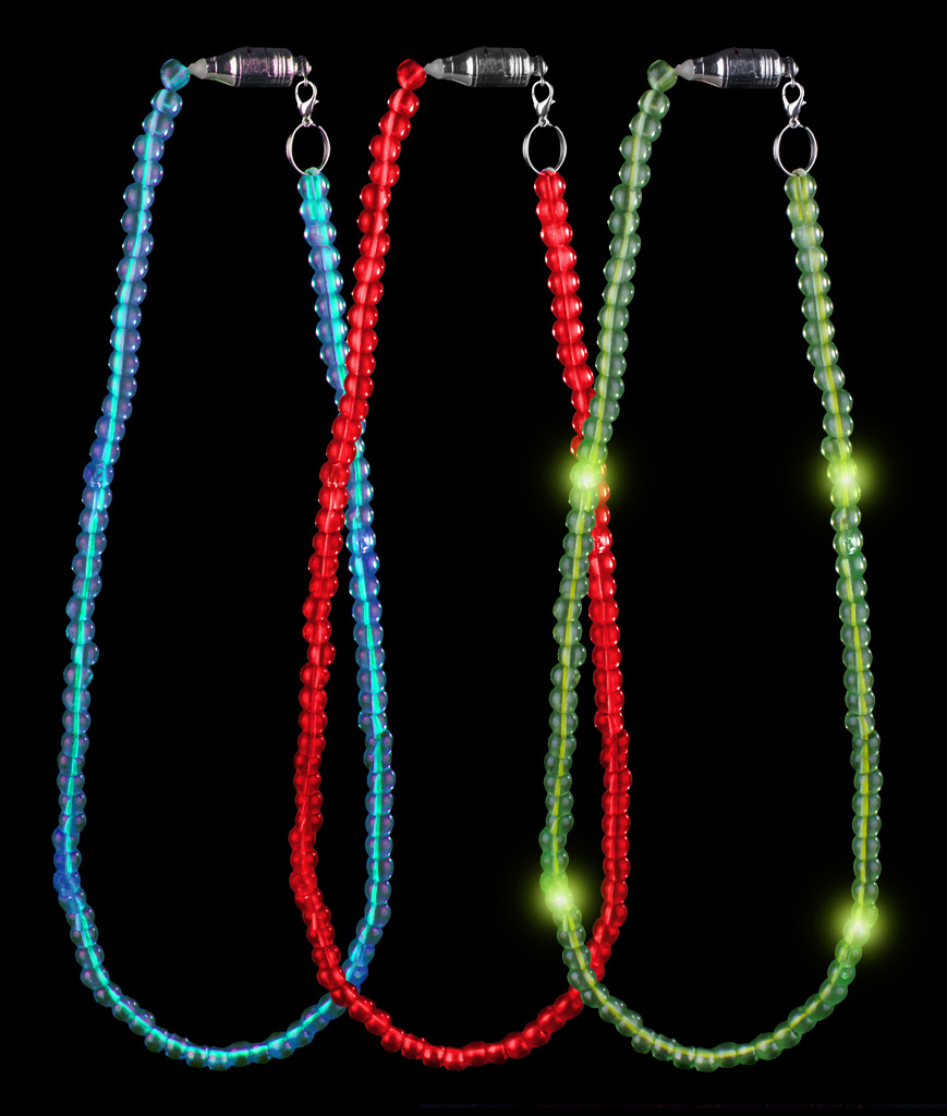 LED Light Up Bead Necklace - Assorted