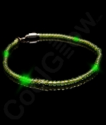 LED 25 Inch Bead Necklace - Green