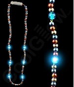 LED Patriotic Light Up Beads Necklace