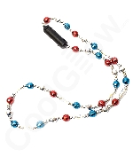 LED 34 Inch Bead Necklace - Patriotic