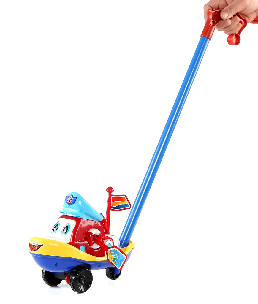 10 Inch Boat Push Toy