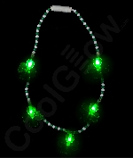 LED Clovers Bead Necklace