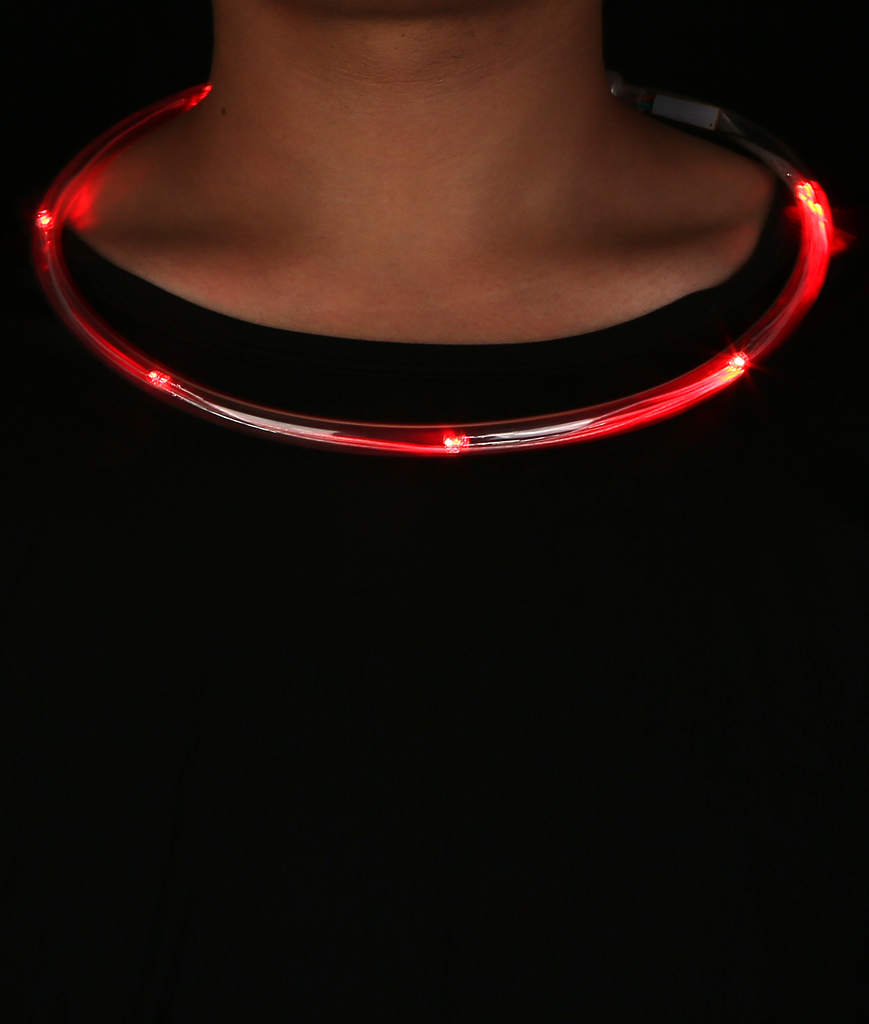 LED Light Chaser Necklace - Red