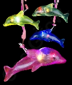 Fun Central AC905 LED Light Up Jelly Dolphin Necklaces - Assorted