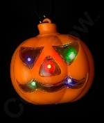 LED Jack O Lantern Necklace