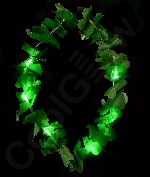 LED Shamrock Leis - Green