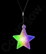 LED Star Necklace with Black Lanyard