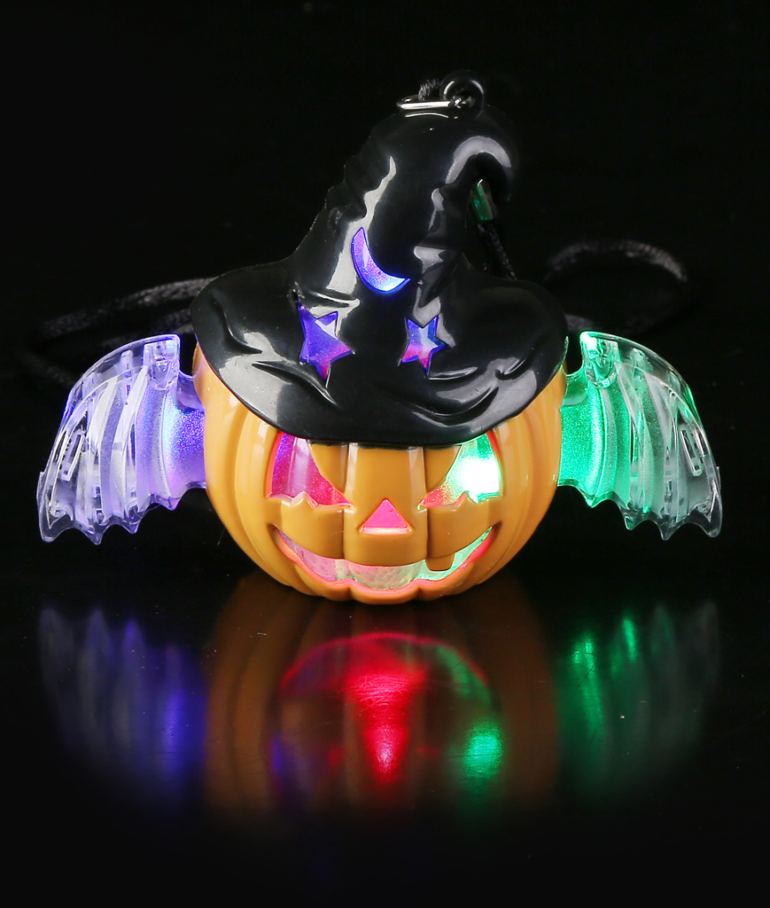 LED Witch O Lantern Necklace