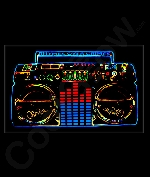 LED Sound Activated Patch- Boombox