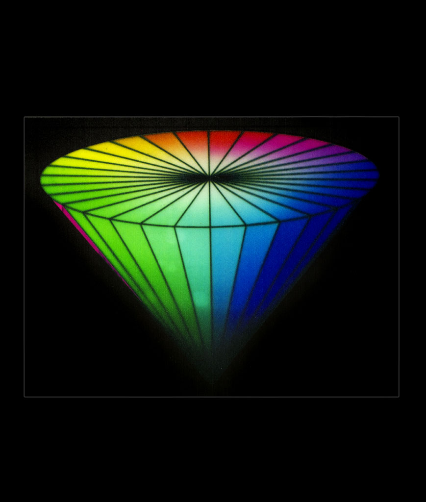 LED Sound Activated Patch- Rainbow Cone