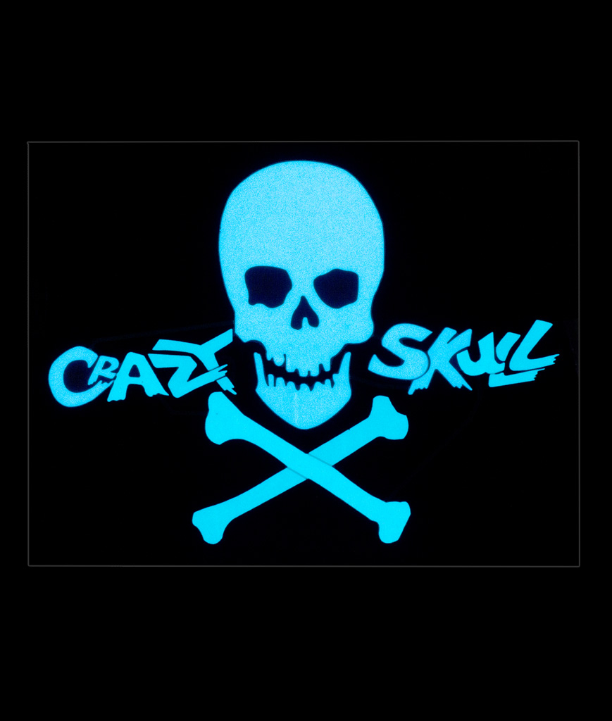 LED Sound Activated Patch-Crazy Skull