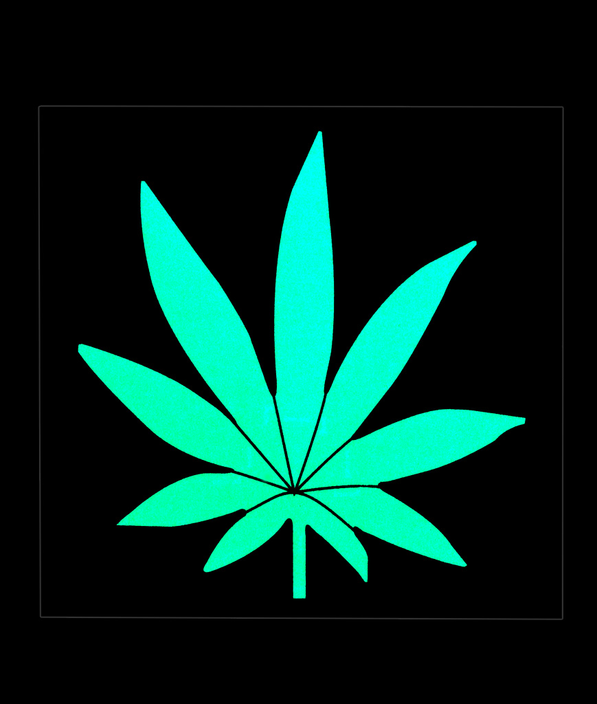 LED Sound Activated Patch-Marijuana Leaf