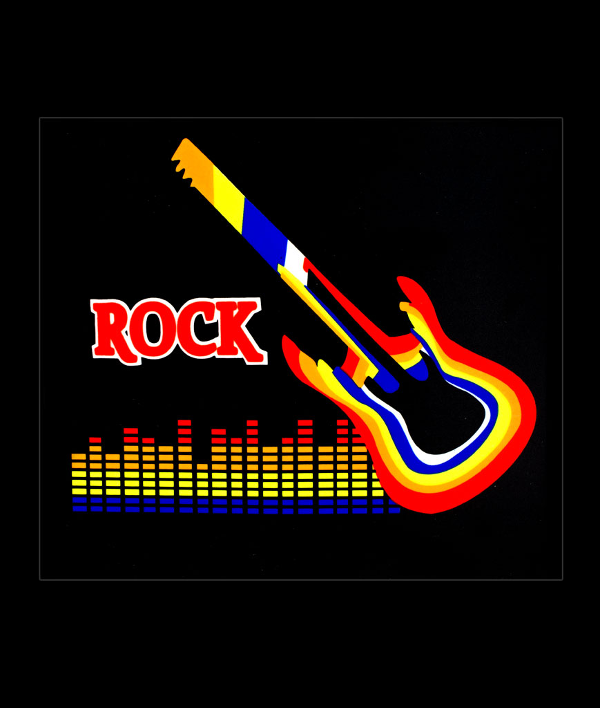 LED Sound Activated Patch-Rock Guitar
