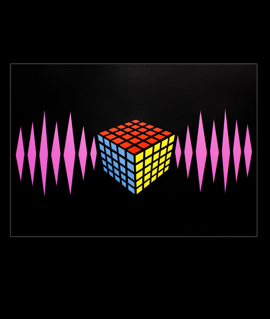 LED Sound Activated Patch - Rubiks Cube