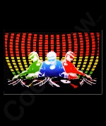 Fun Central C094 LED Light Up Sound Activated Patch - Gradient DJ
