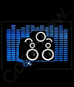Fun Central AJ825 LED Light Up Sound Activated Patch- Gradient Speakers