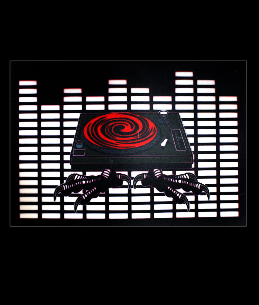 LED Sound Activated Patch - Turntable