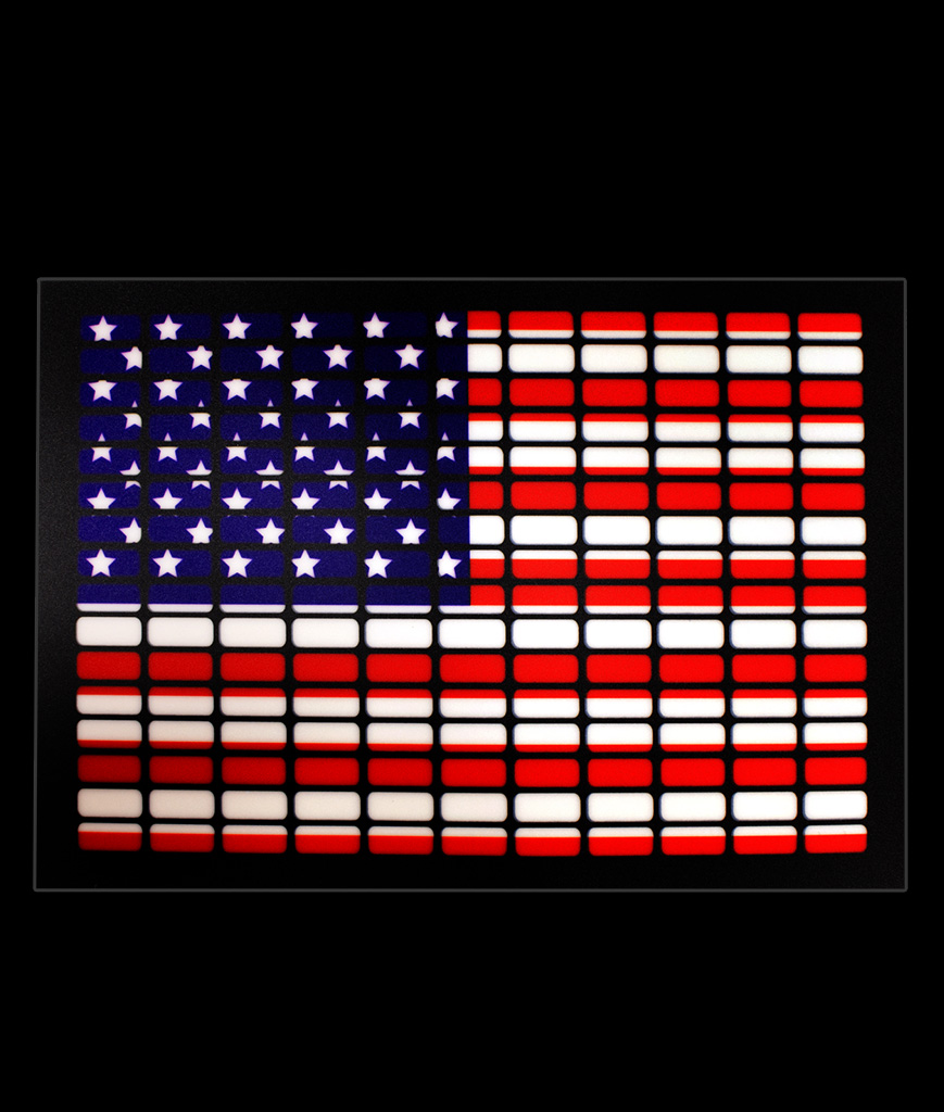 LED Sound Activated Patch - USA Flag